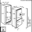 AEG SCE81816ZF Beépíthető Kombi Hűtőszekrény 178cm