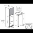 Beko BSSA210K3SN Beépíthető Hűtő Fagyasztós 122cm