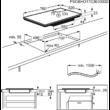 AEG IAE84851FB, SenseFry beépíthető indukciós főzőlap, Hob2Hood, FlexiBridge funkció, 80 cm