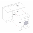 Whirlpool BI WDWG 75148  EU beépíthető mosó-szárítógép