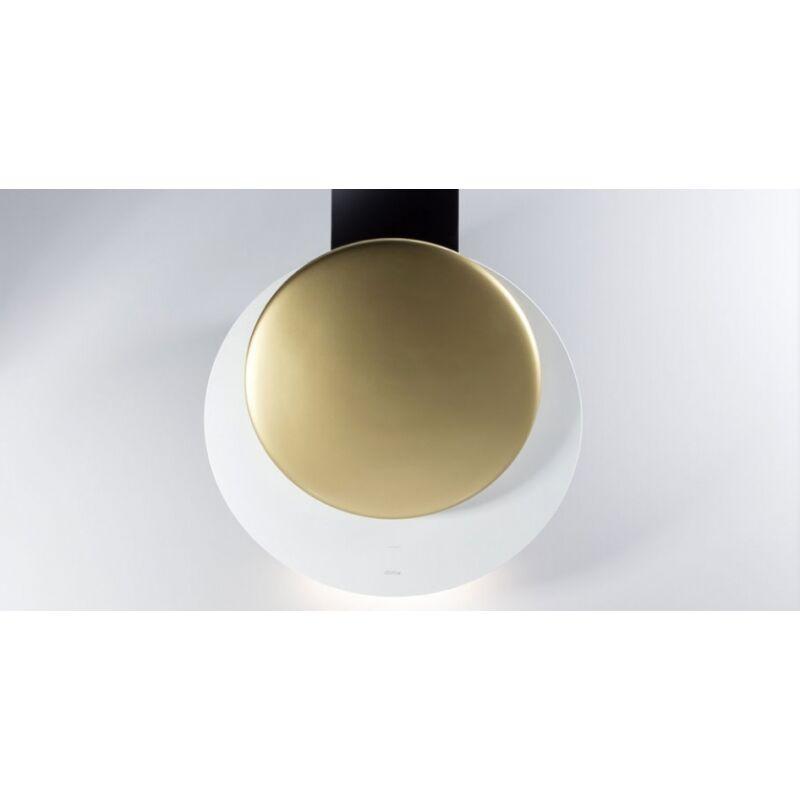 Sirius SLTC-94 fehér üveg, arany kerámia panellel fali páraelszívó