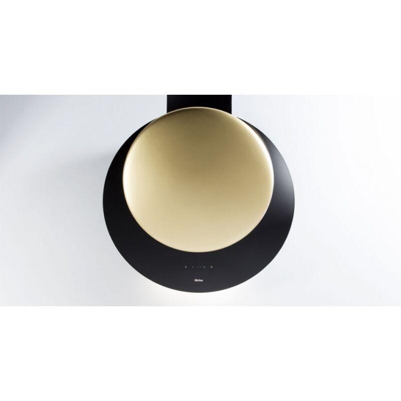 Sirius SLTC-94 fekete üveg, arany kerámia panellel fali páraelszívó
