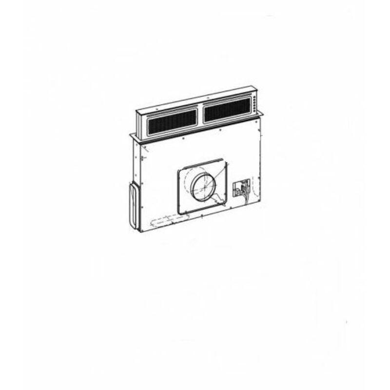 Sirius S-DD11 EM inox motor nélkül pultba építhető páraelszívó