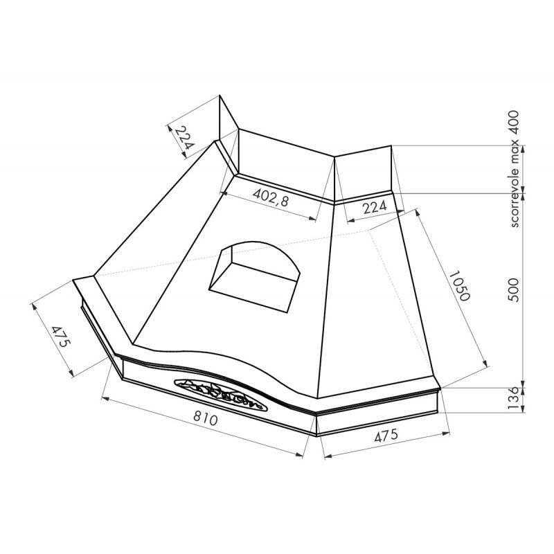Kdesign GLENDA ANGOLO T600 sarok páraelszívó