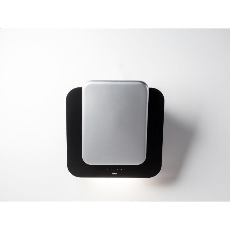 Sirius SLTC-103 fekete üveg ezüst kerámia betéttel fali páraelszívó